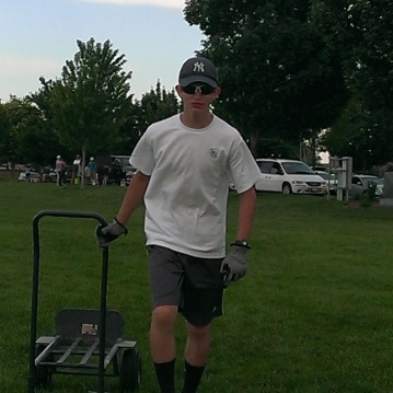 Our youngest son working hard during tear down at an event.  He's a very important part of the 57 Artifacts Team.